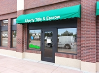 Liberty Title & Escrow Window Painting